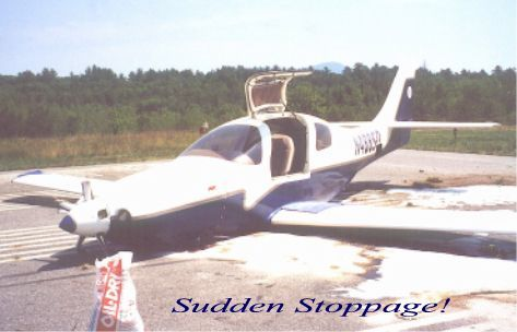 V8-powered Lancair-4P after accident